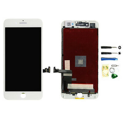 White Replacement LCD Screen Touch Digitizer Frame Assembly for iPhone 7 Plus US