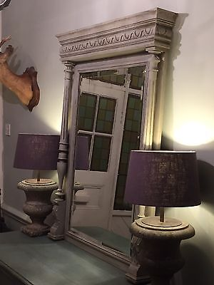 Stunning Large Vintage Antique French Painted Mirror