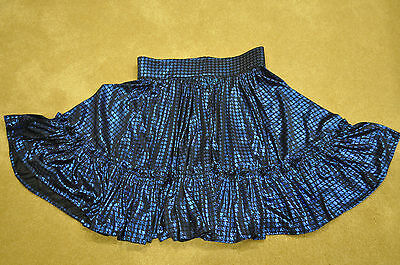 Vintage Square Dance Black 2 Layer Petticoat with Blue Skirt