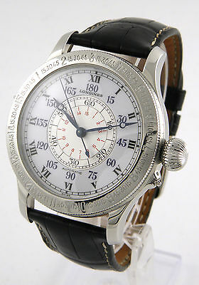 Longines Lindbergh Hour Angle Watch Stundenwinkel Uhr 48Mm Xl Großes Modell