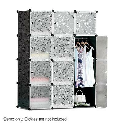 DIY Portable Wardrobe Stackable Storage Cubes Clothes Cabinet Organiser Shelf