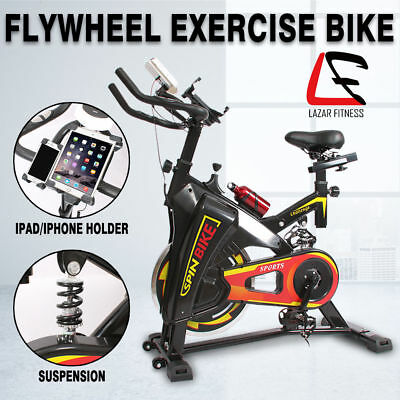 Lazar Fitness Spin Bike Flywheel Fitness Commercial Exercise Home Workout Gym