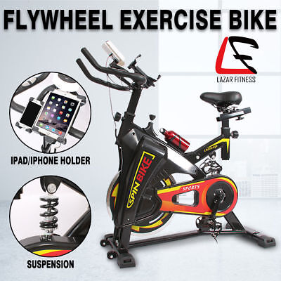 Spin Bike Flywheel Fitness Commercial Exercise Home Workout Gym iPad Holder NEW