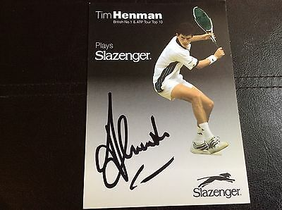 """Tim Henman Hand Signed Autograph on a Black & White Picture 6"""" x 4"""""""