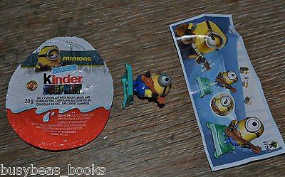 Kinder Surprise MINION Guitar Player, CANADA, with papers, box and foil wrap