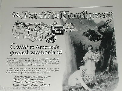 1924 Pacific Northwest advertisement, joint NP, CB&Q, GN railroads