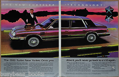 1985 Chrysler NEW YORKER 2-page advertisement, large photo, Turbo New Yorker