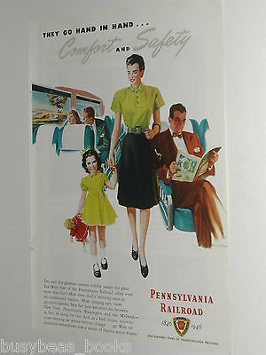 1946 Pennsylvania Railroad ad, passenger train service