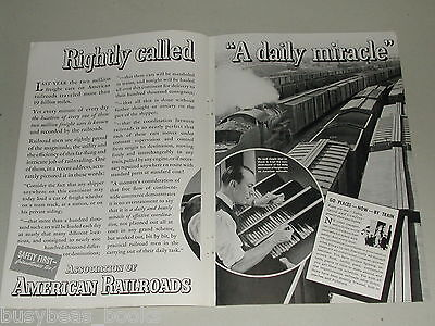1937 American Railroads Assoc advertisement, freight car tracking paperwork AAR