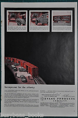 1944 EVANS AUTO-LOADER advertisement, loading JEEPS in boxcars