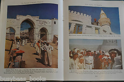 1948 magazine article In Search of ARABIA'S Past people history etc color photos