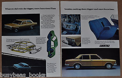 1976 Fiat 131 & 132 2-page advertisement, FIAT, European advert