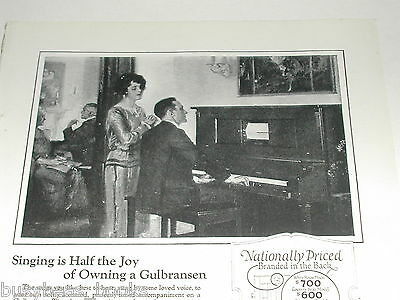 1923 Gulbransen Registering Piano advertisement, player piano