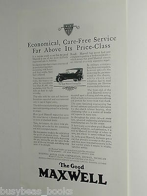 1924 MAXWELL advertisement, Maxwell Motor Corp. vintage Touring Car