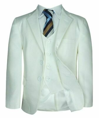 Boys Formal 5 PC Cream First Communion Suit, Ivory Page Boy Suit, Wedding Prom