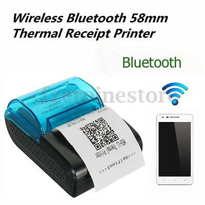 Wireless Bluetooth 58mm Thermal Receipt Printer for Android IOS Mobile Windows