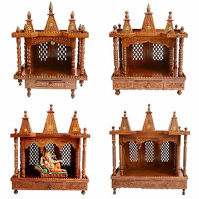 Small to Large Foldable Wooden Hindu Puja/Pooja Mandir/Temple - DIY Packaging