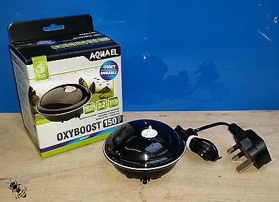 Aquarium Air Pump Aquael Oxyboost 150 plus Fish Bowl Tank Goldfish Tropical New