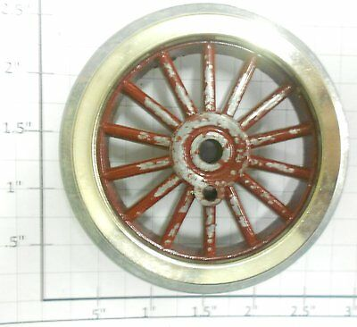 """Lionel 38-G1 Std 2-1/4"""" O.D. Red Spoked Wheel with Square Gear Boss"""