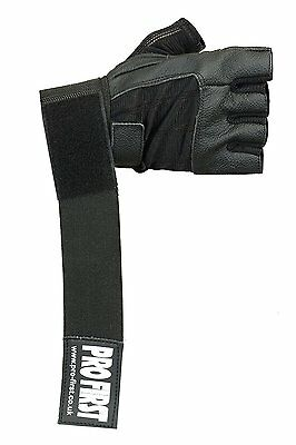 ProFirst Genuine Leather Half Finger Gym Gloves Weight Lifting Body Building