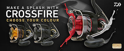 New 2017 Daiwa Crossfire Limited Edition Reel - 2500 3000 or 4000 Sizes