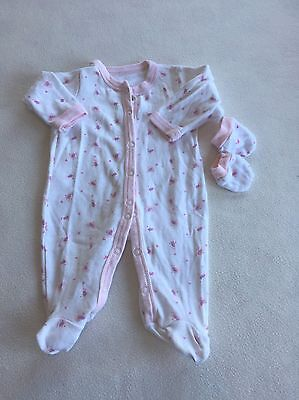 Baby Girls Clothes Newborn - Cute Baby Grow Sleepsuit & Mitts