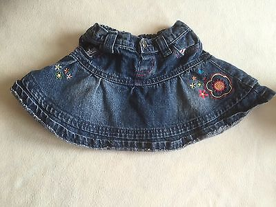Baby Girls Clothes 12-18 Months - Tiger lily Denim  Skirt - We Combine Postage