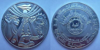 1968 Iraq Commemorative Revolution Silver Medal Coin Saddam Hussein 31 Gram