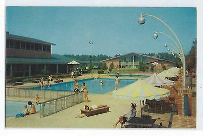 Pool at The Motor House - Williamsburg, Virginia - Vintage Postcard