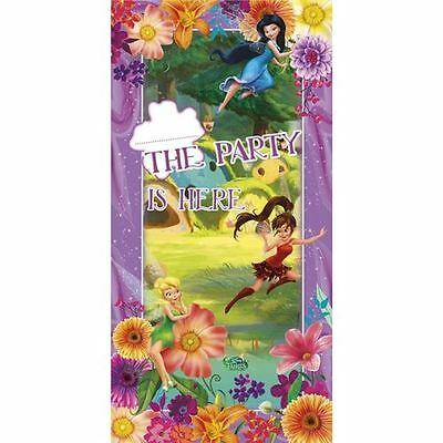 Tinkerbell Magic Fairies Door Banner Girl Birthday Party Decoration Personalise