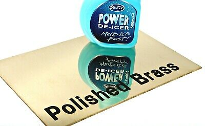 POLISHED BRASS Sheet Plate - 8 Different Thicknesses & 23 Popular Sizes