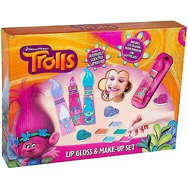 Dreamworks Trolls Lip Gloss & Makeup Beauty Set Kids Pretend Play Beauty Toy