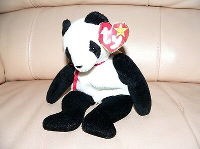 """with TAG FORTUNE THE PANDA TY BEANIE ORIGINAL BABY DEC 6 1997 RET TOY PLUSH 8"""""""