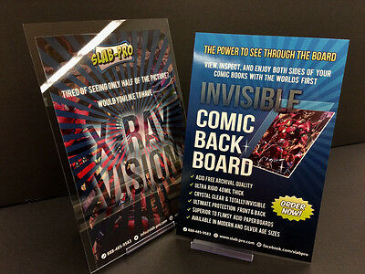 """Invisible Comic Back Board Modern Age 6.75"""" 3 Pack +Free Shipping GHOST RIDER"""