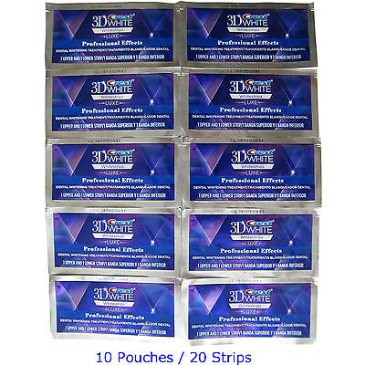 #C r e s t 3DBandes LUXE Professional Effects Blanchiment 10 Pouches 20 Strips #