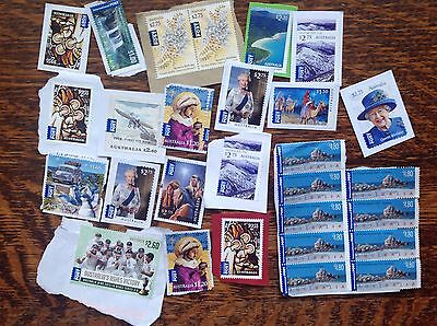 $60 Of Unfranked Australia International Stamps On Paper