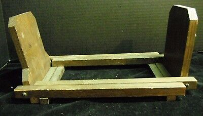 """Adjustable Wood Book Rack Collapsible 12¾"""" to 20¾"""