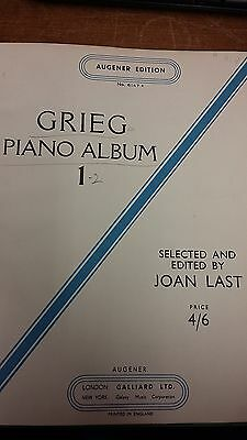 Grieg: Piano Album 1: Music Score (LQ6)