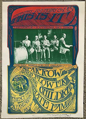 """VINTAGE ORIGINAL '67 """"THIS IS IT"""" Psychedelic Happenings AOR Poster SIGNED MOUSE"""