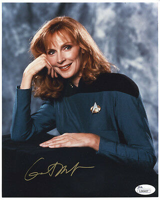 (SSG) Gates McFadden Signed 8X10 Color STAR TREK Photo - JSA (James Spence) COA