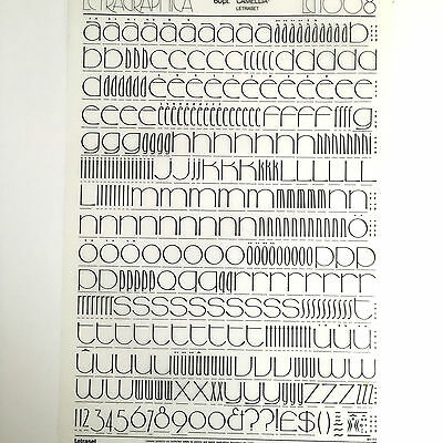 NEW & UNUSED LETRASET INSTANT RUB ON TRANSFER LETTERS 60pt Camellia