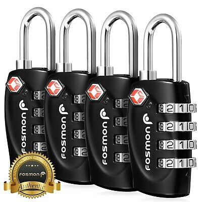 TSA Approve [4 Digit Combination] Travel Suitcase Luggage Bag Lock Padlock Reset