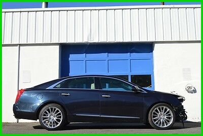 2014 Cadillac XTS Vsport Platinum AWD Pano Roof HUD Bose Loaded Save Repairable Rebuildable Salvage Lot Drives Great Project Builder Fixer Front Hit