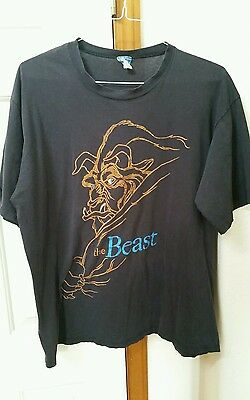 Vintage Disney T Shirt The Beast Character Fashions Beauty and the Beast Black L
