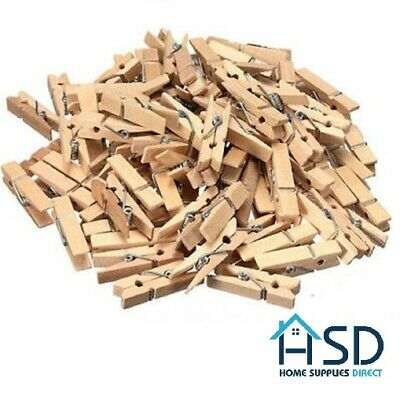 Mini Pegs Natural Wooden Craft Cloth Photo Wood Hanging Small Spring Clips 25mm