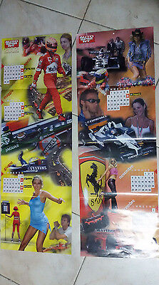 Poster Calendario AUTOSPRINT 2002 composto da 2 fogli in carta spessa cm 80x27
