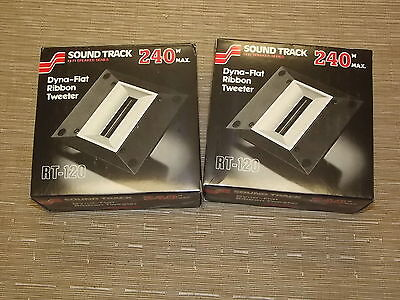 Pair of Sound Track 240 Ribbon Tweeter RT-120 New in box Made in Japan
