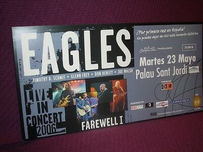 Eagles Cardboard Promo Poster Barcelona Concert 2006 Not Available In Stores!