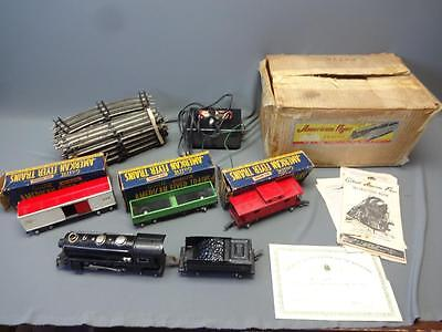American Flyer Train Set 401 Locomotive 476 478 484 3-Rail Track O Scale