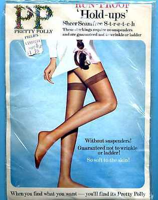 Vintage Pretty Polly Stay-Up Stockings MIP Size 10 1/2 - 11